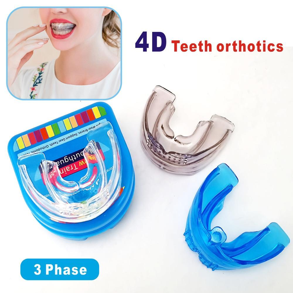 Invisível Aparelhos Ortodônticos Dental Bandeja de Endireitar Os Dentes Mouthguard Dental Ortopedia Retentor Lotado Dentes Irregulares Corrector