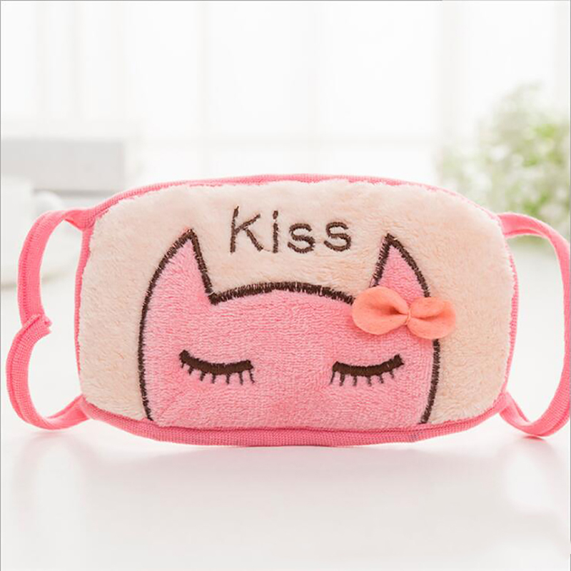 Cartoon Cat Pattern Mask Women Girls Fashion Cute Print Cotton Mouth Muffle Masks Outdoor Mask For Winter