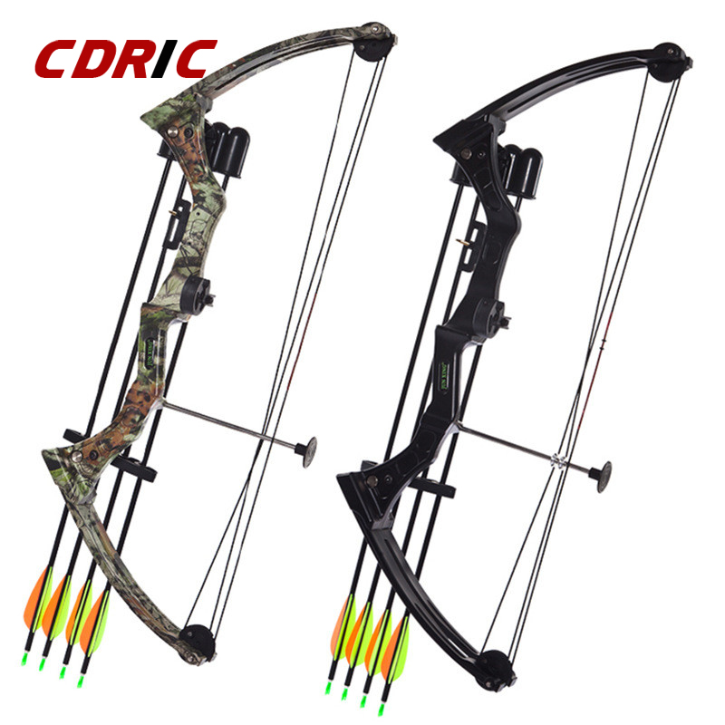 Two Color For Kids Youth 20 Pounds Aluminium Alloy Bow Hunting Bow & Arrow Set Pulley Fish Shooting Bow