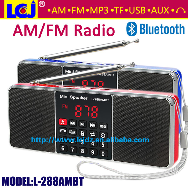 Wholesale Black Bluetooth Vintage Car Radio Mp3 From China: Wholesale L 288AMBT Super Bass Stereo Sound Portable Mini