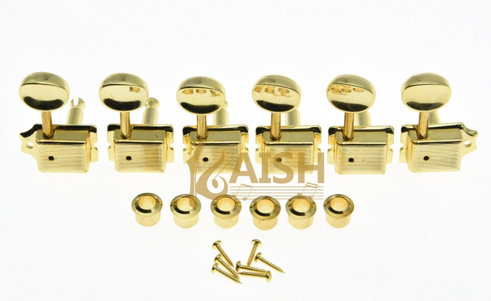 Vintage Guitar Tuning Keys Guitar Tuners Machine Heads for ST TL Gold yibuy 3r3l black guitar tuning keys machine heads for lp etc guitar
