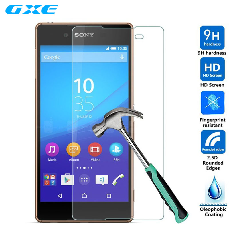 For Xperia C3 C4 C5 Screen Protector Film Front Tempered Glass For Sony Xperia E5 M5 M4 Aqua E1 E3 E4 E4G M2 S LT26ii V LT25i