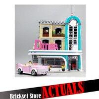 Лепин 15037 Downtown Diner Street View создатель строительные блоки кирпичи игрушки просветить для мальчиков oyuncak Совместимость с legoINGly