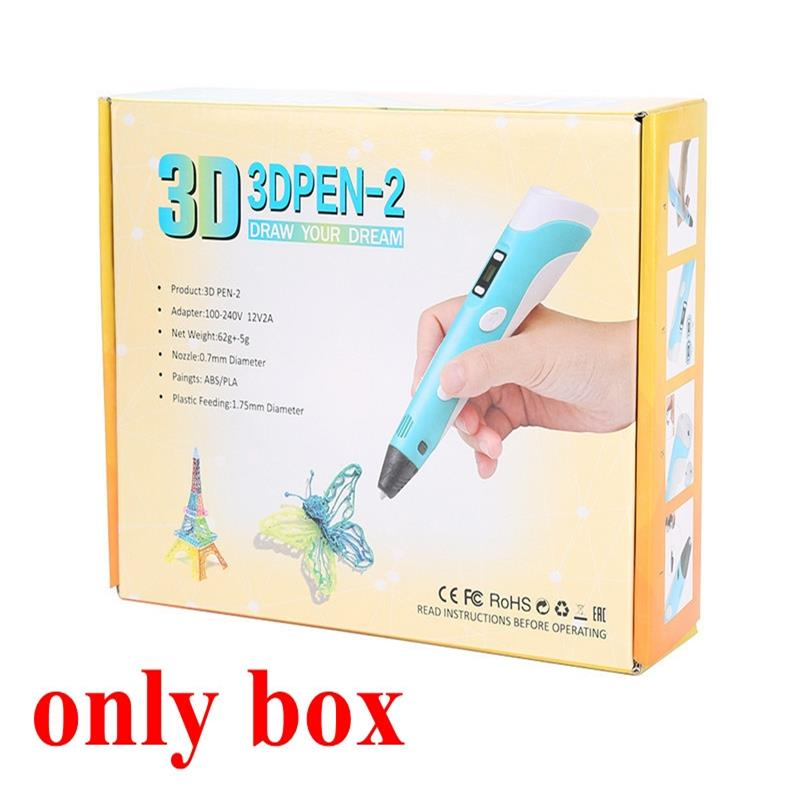 3D Pen Box DIY Drawing Pens Box Best Christmas Birthday Gift For Kids (only Box)