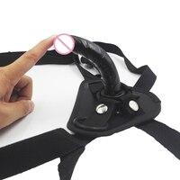 CamaTech Strap On Mini Dildo Con Ventosa In Pelle Strapon Pene Harness Per Le Donne La Vagina/Anal Plug Lesbiche Biancheria Intima Giocattolo del sesso