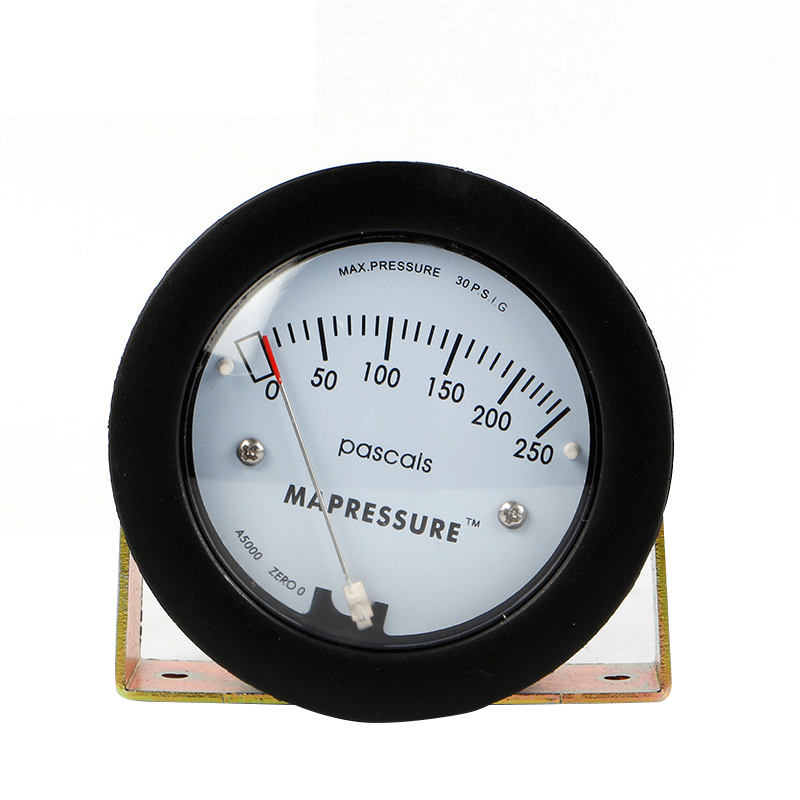 ФОТО  0-250Pa Air Differential Pressure Gauge TE5000 Mini Size Easy to Mounting Pointer -68 ~ 103KPa High Quality