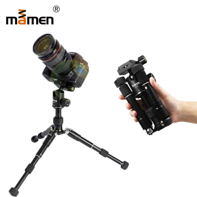 все цены на Mamen Professional Mini Tripod Travel Portable Camera Tripod 18-46.5cm 6kgs Bear Full Foldable SLR DSLR Vedio Camera Monopod
