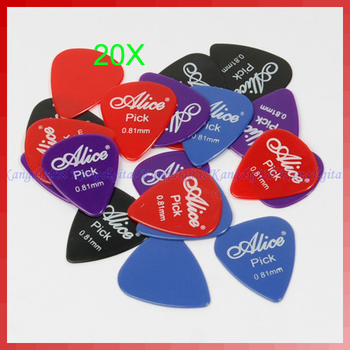 A96 hot 20pcs/lot 0.81mm Smooth Nylon Guitar Picks Pick Plectrum New