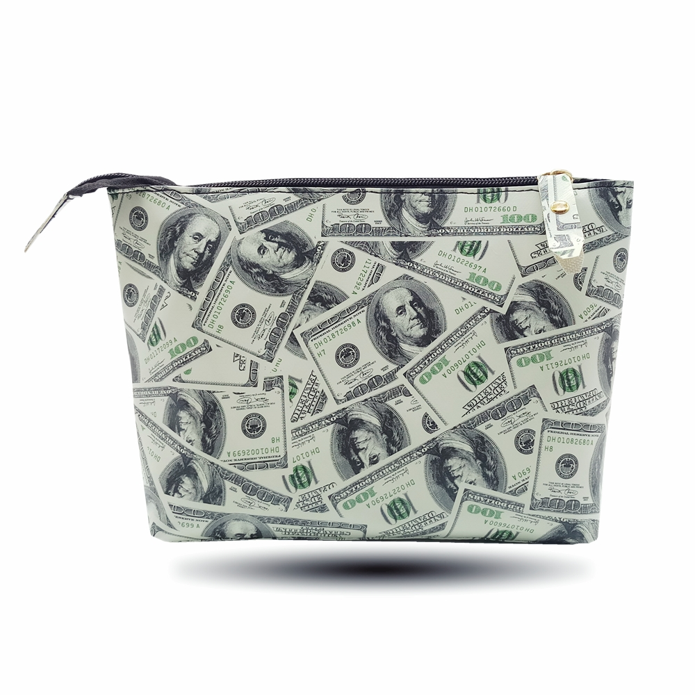 2018 Fashion Dollar Women Travel Waterproof Makeup Case Cosmetic Bags Professional Organizer Clutch Handbag High Capacity Pouch
