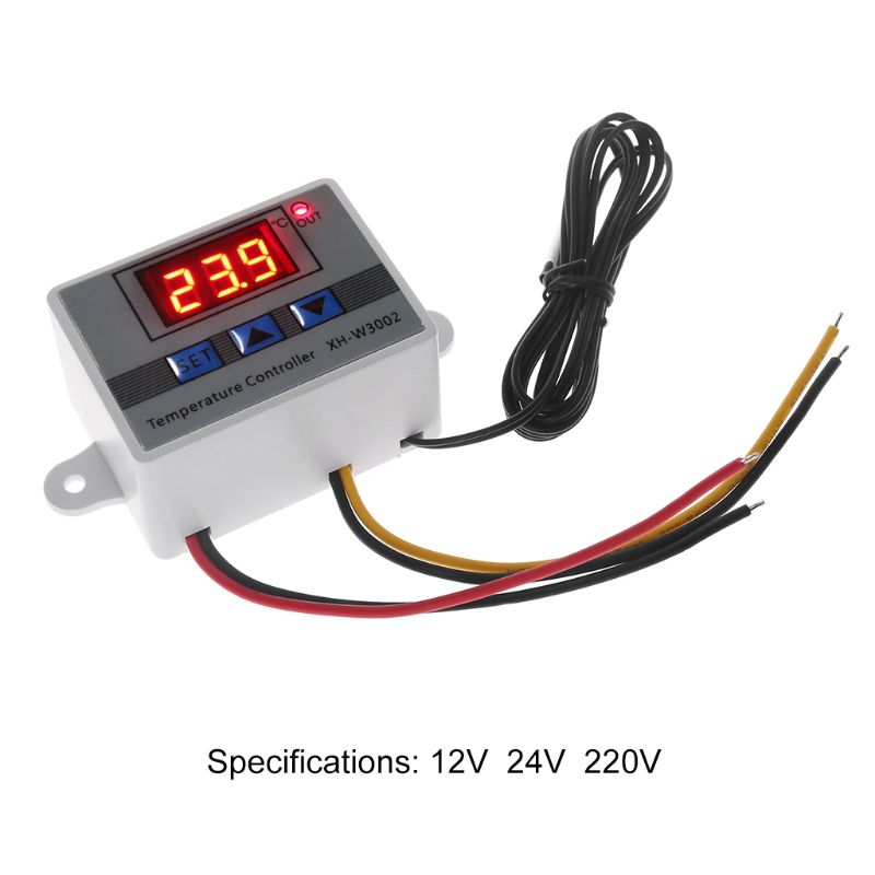0.1 Degree Accuracy <font><b>W3002</b></font> Digital Temperature Controller 10A LED Thermostat Regulator with Refrigeration Heating Function image