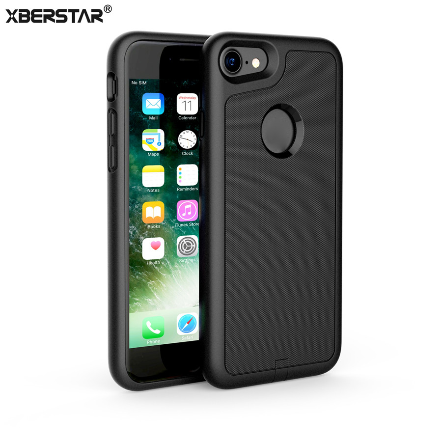 imágenes para Casos para iphone 7 case cubierta de la energía del cargador inalámbrico qi receptor inalámbrico transmisor de carga para el iphone 7 plus shell protector