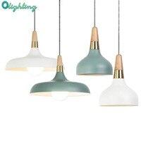 Lampara Colgante Pendant Lights Lustres Abajur Pendant Lamp Luminaire Hanglamp Wood Aluminum Lamp Shade For Home