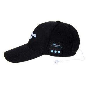 Image 4 - portable bluetooth earphone Headphone Headset Speaker Cotton Wireless Baseball Hat Music Cap For Women Men Casual Caps 5 Colors