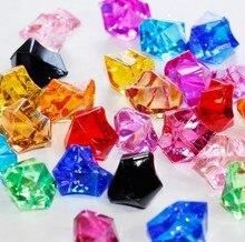 100pcs/lot colorful wedding favor party decoration Acrylic ice Rock diamonds table scatter confetti Floral Arranging Vase filler