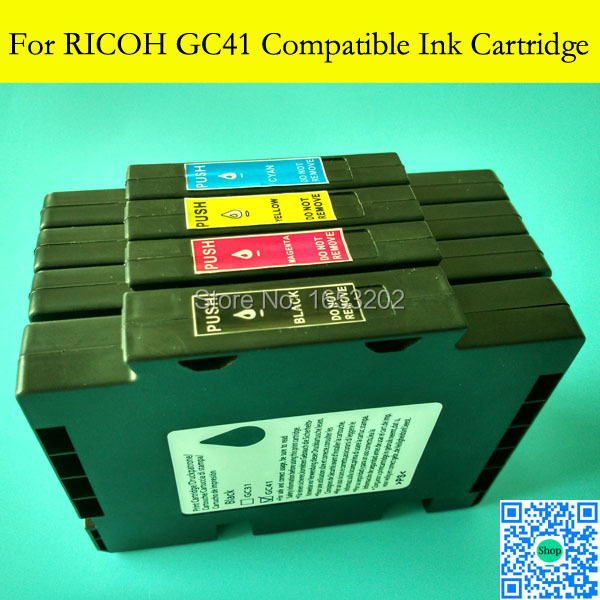 1 Set With Full Sublimation Ink Cartridge For Ricoh GC41 GC 41 For Ricoh SG3100 SG2100 SG2010L SG3110dnw Printer Plotter el jinete polaco