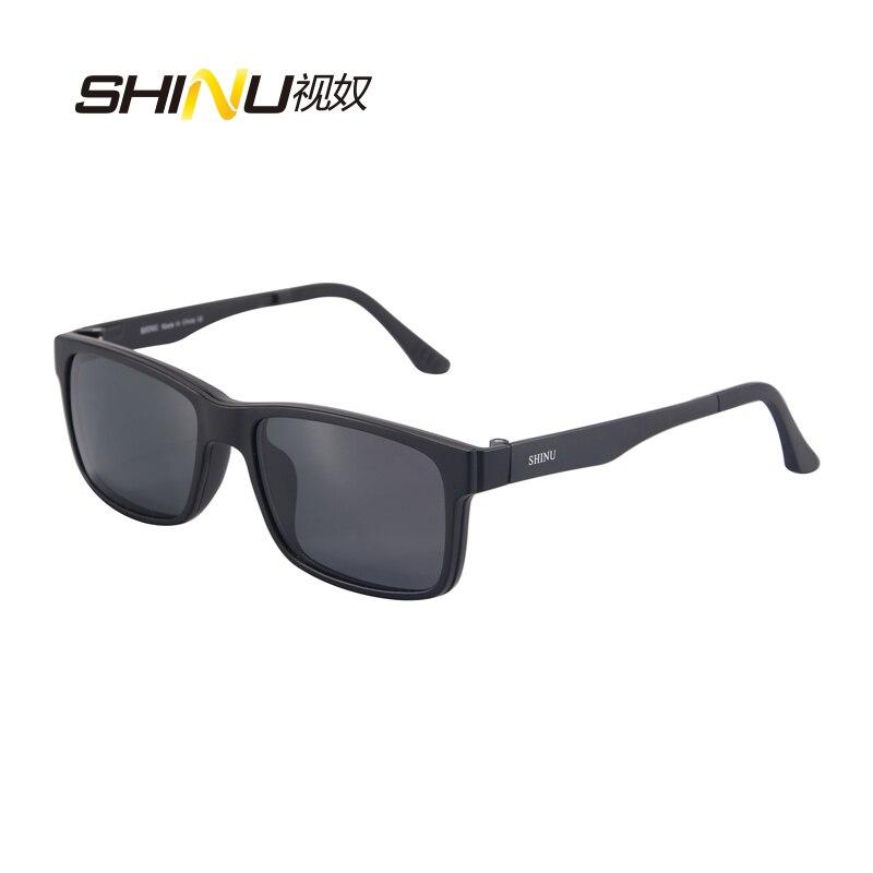 f49d2fdcce306 SHINU Magnético Len Polarizada Clip sobre Óculos De Sol com Prescrição Frame  Ótico Miopia óculos de Visão Noturna Óculos de Condução Dupla Finalidade em  ...