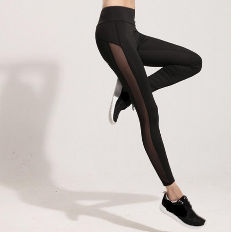 Nessaj Harajuku Pants Women Mesh Splice Fitness Slim Black Legging Sportswear Clothing New Legging hot Sale Women Leggings