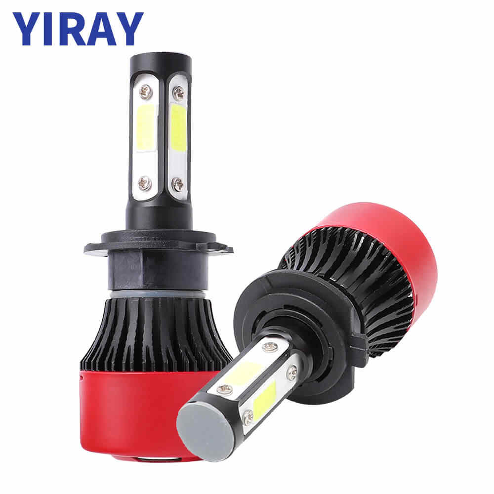 YIRAY 4 Side COB 72W 16000lm Car Headlight Bulbs LED H4 H7 H11 H13 5202 9003 9005 9006 9012 Auto Led Headlamp Fog Light 12V