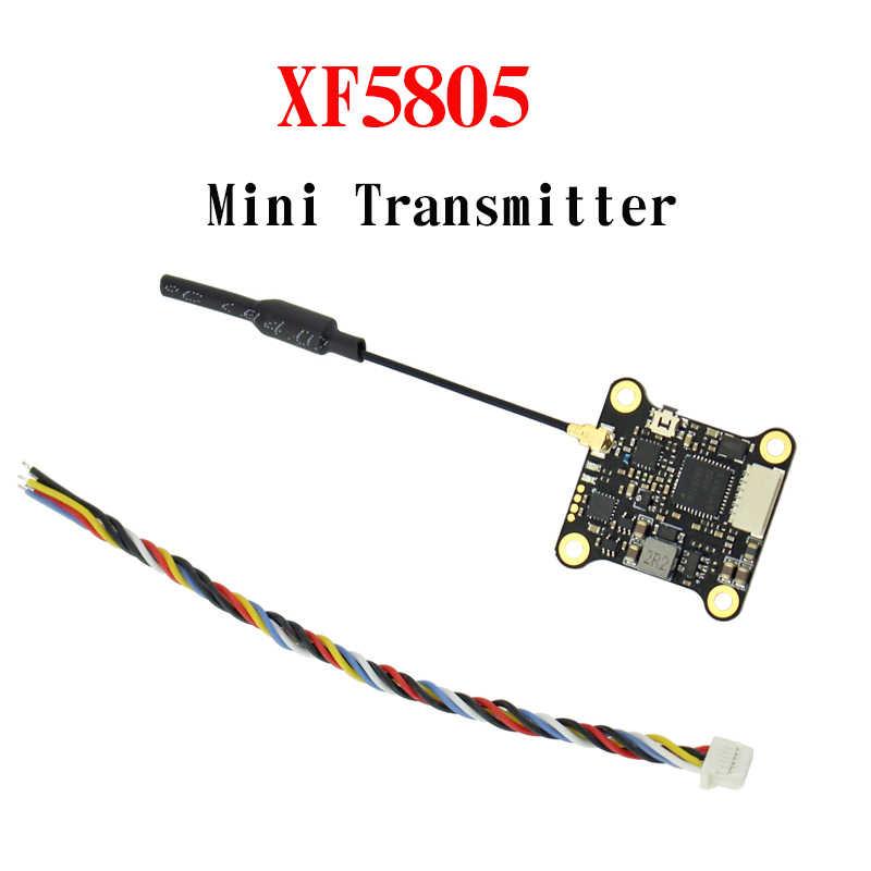 Upgrated MINI XF5805 25 mW Transmissor 5.8 Ghz FPV 100 mW 200 mW 300 mW 37CH 2 KM com IPEX apoio conector De Áudio Inteligente Pitmode FPV