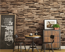 цены beibehang Vintage simulation stone wall paper coffee shop bar restaurant clothing store PVC papel de parede 3d wallpaper behang