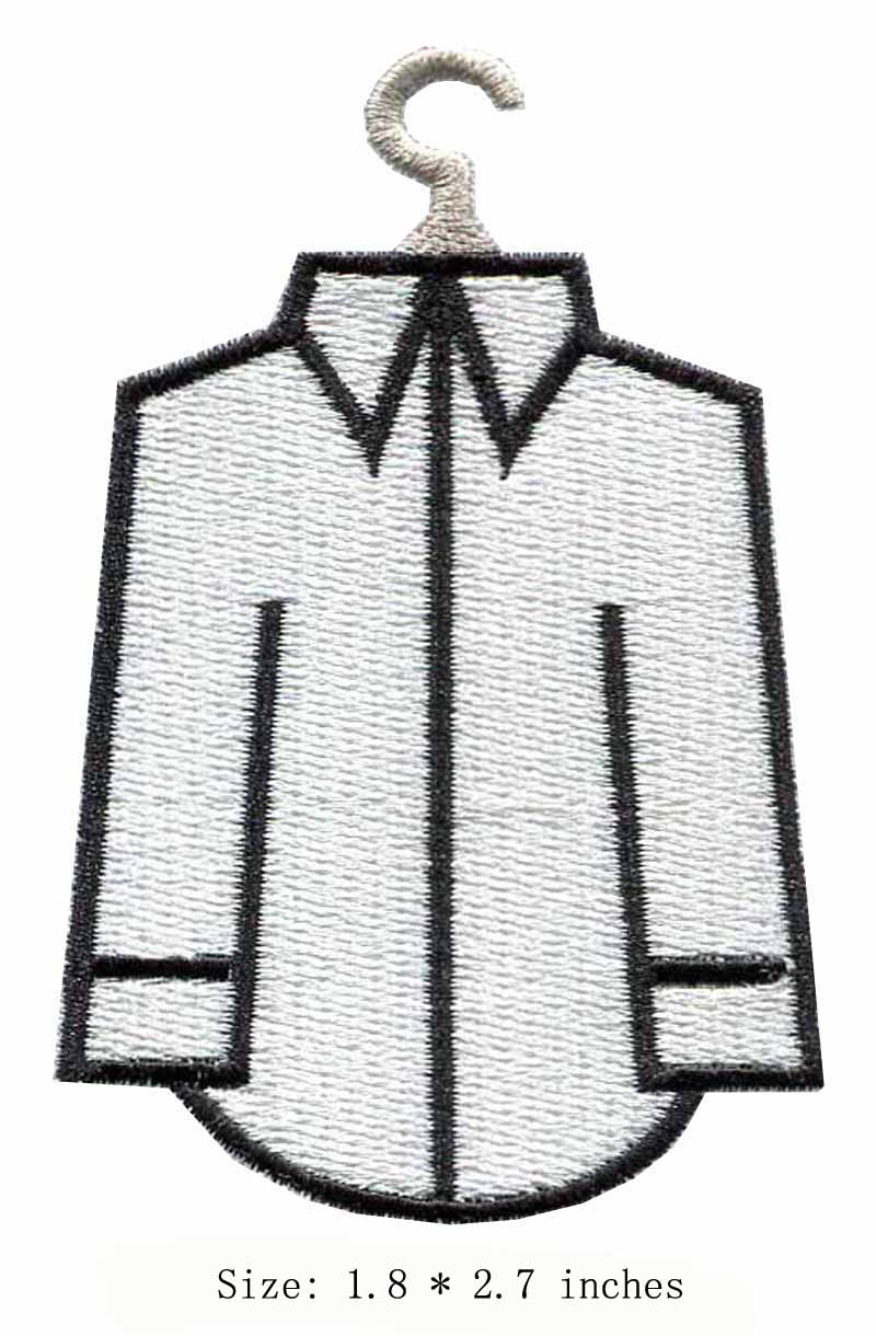 The white shirt embroidery patch 1.8 wide /hanger/ironing on/Career life style