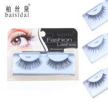 Fashion Style High Quality Full Handmade Made 100% Human Hair False Eyelashes Extension Eyelashes 11 Design Choose