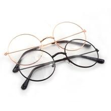 Лаура Фея Винтаж круглые золотые цветные очки Для женщин Симпатичные оправы для очков oculos-де-грау feminino LFAU108