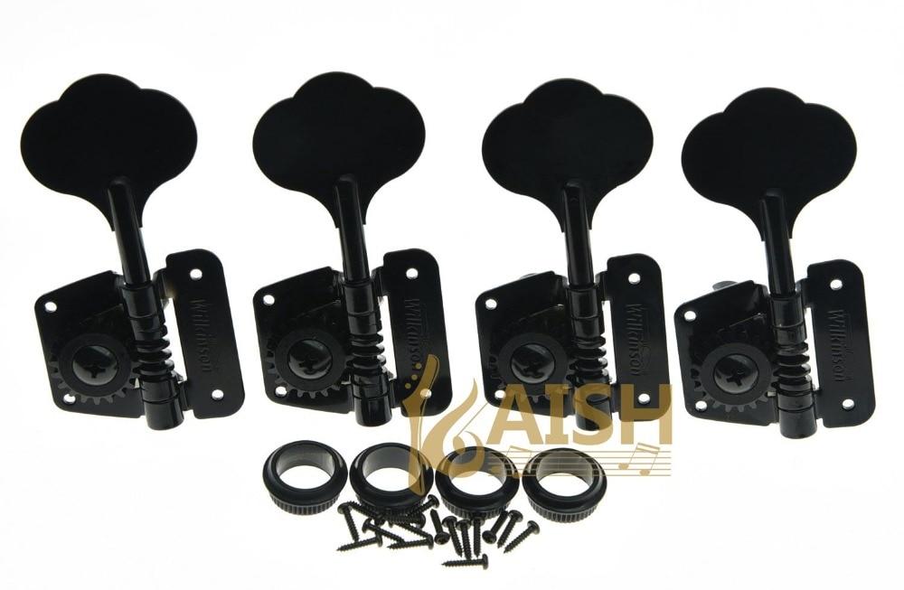 Wilkinson 4 Left Handed Bass Tuners WJBL-200 Tuning Keys Machine Heads Black the black keys the black keys el camino 2 lp
