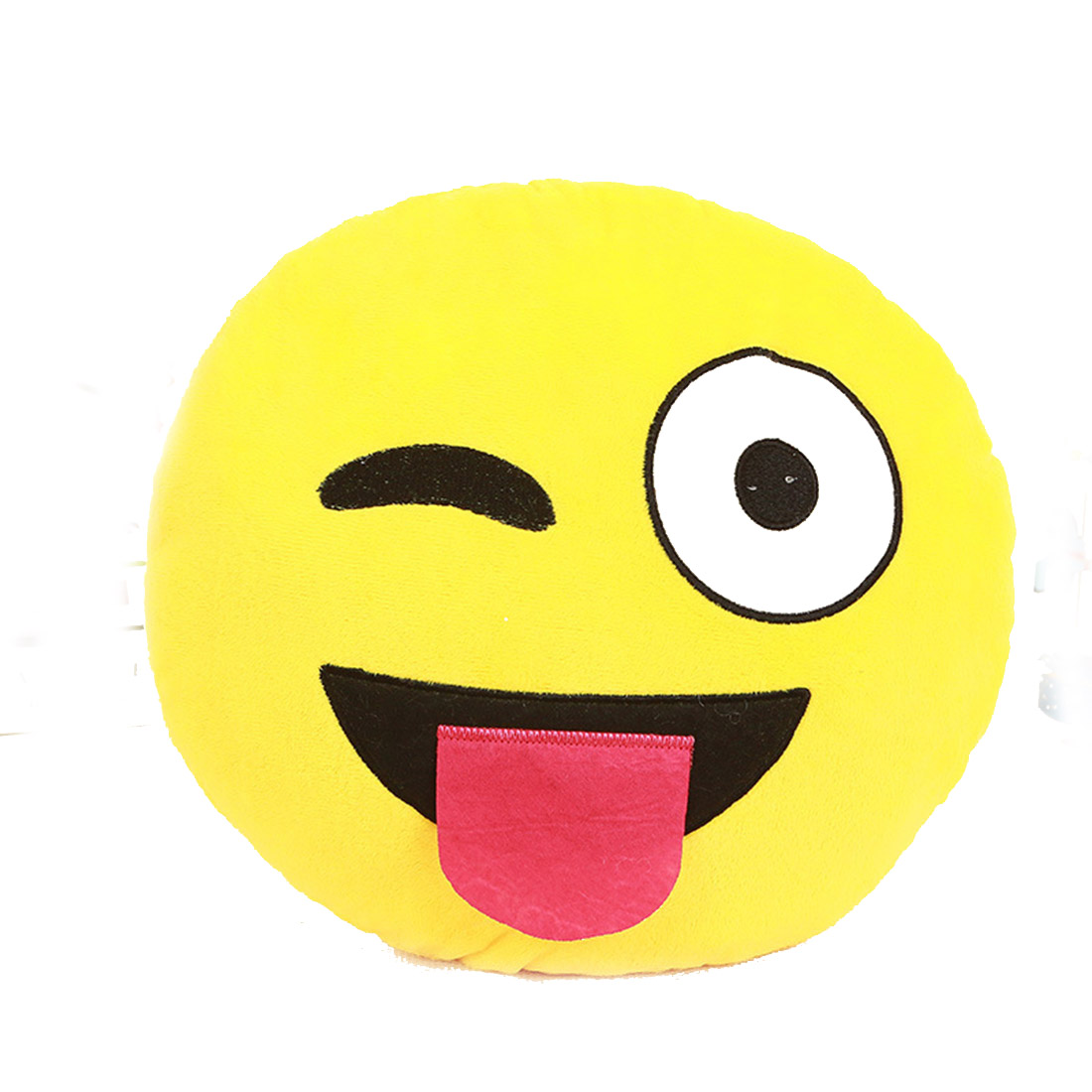 Cute Emoji Smiley Yellow Pillows Cushion Washable Cartoon Facial QQ Expression Yellow Round Decorative Pillows Stuffed Plush Toy