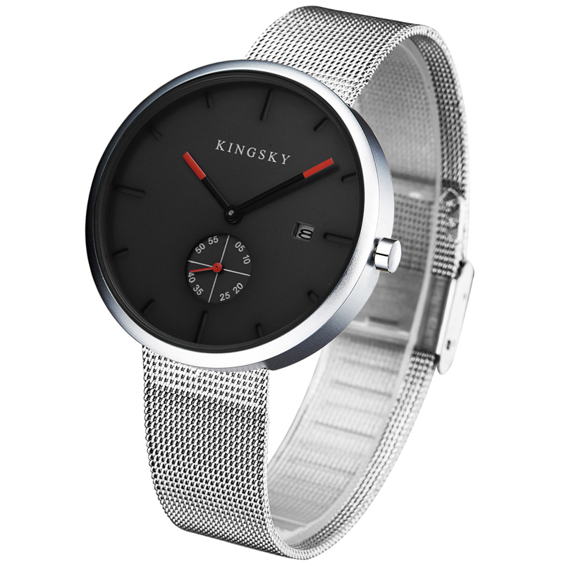 Kingsky Brand Quartz Watch Fashion Women Watches Steel Strap small dial also can work Women's casual watch Relogio Faminino kingsky new fashion small women watches famous design quartz watch black pu leather strap wristwatch