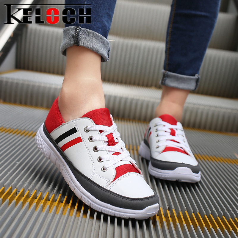 Keloch New Trend Women'S Casual Shoes Female Breathable White Flats Shoes Walking Sneakers For Women Ladies Shoes Zapatos Mujer instantarts cute poodle dog pattern sneakers women s casual flats air mesh walking shoes ladies student outside shoes zapatos