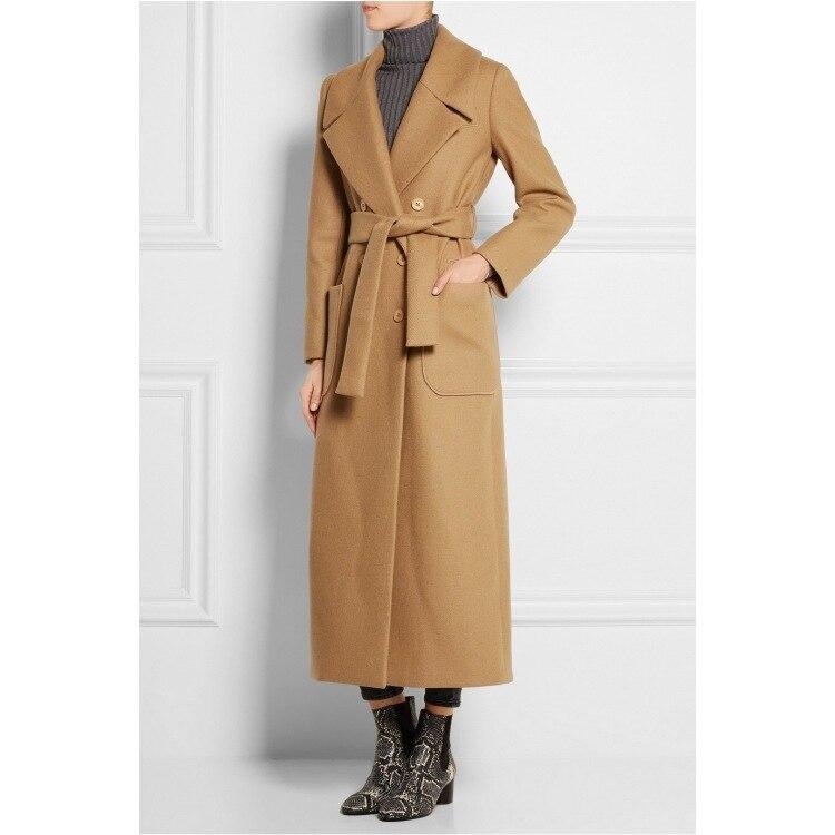 Long Manteau 2017 Femme Maxi Survêtement Laine Femelle Simple Robe Hiver La Cassic De Plus Femmes Automne Taille PRPBa