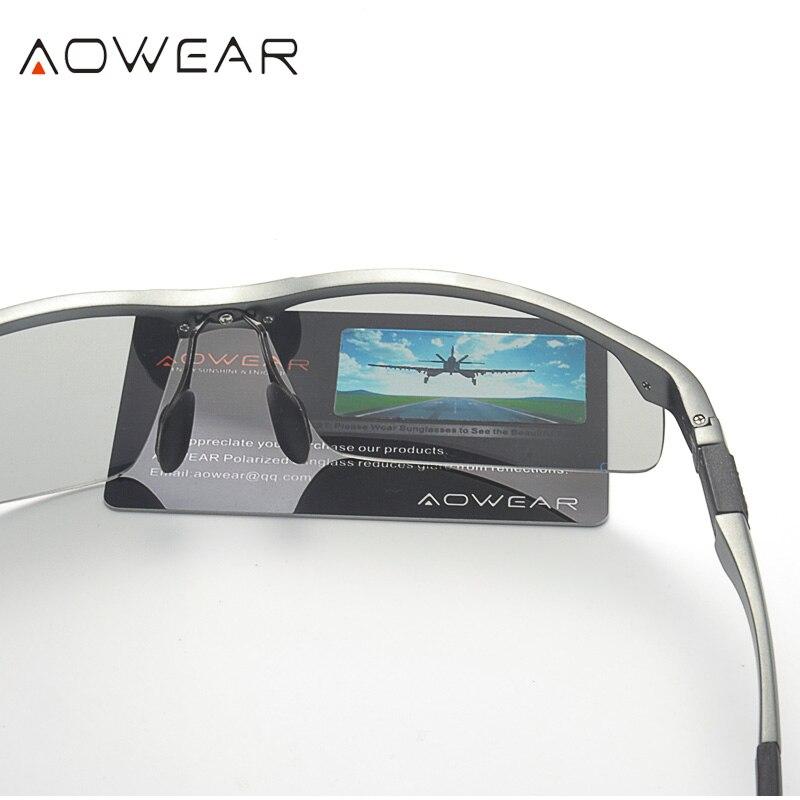 Купить AOWEAR фотохромные солнцезащитные очки мужские поляризованные очки  Хамелеон мужские изменить цвет солнцезащитные очки HD День ночного видени. ec072aa90b6