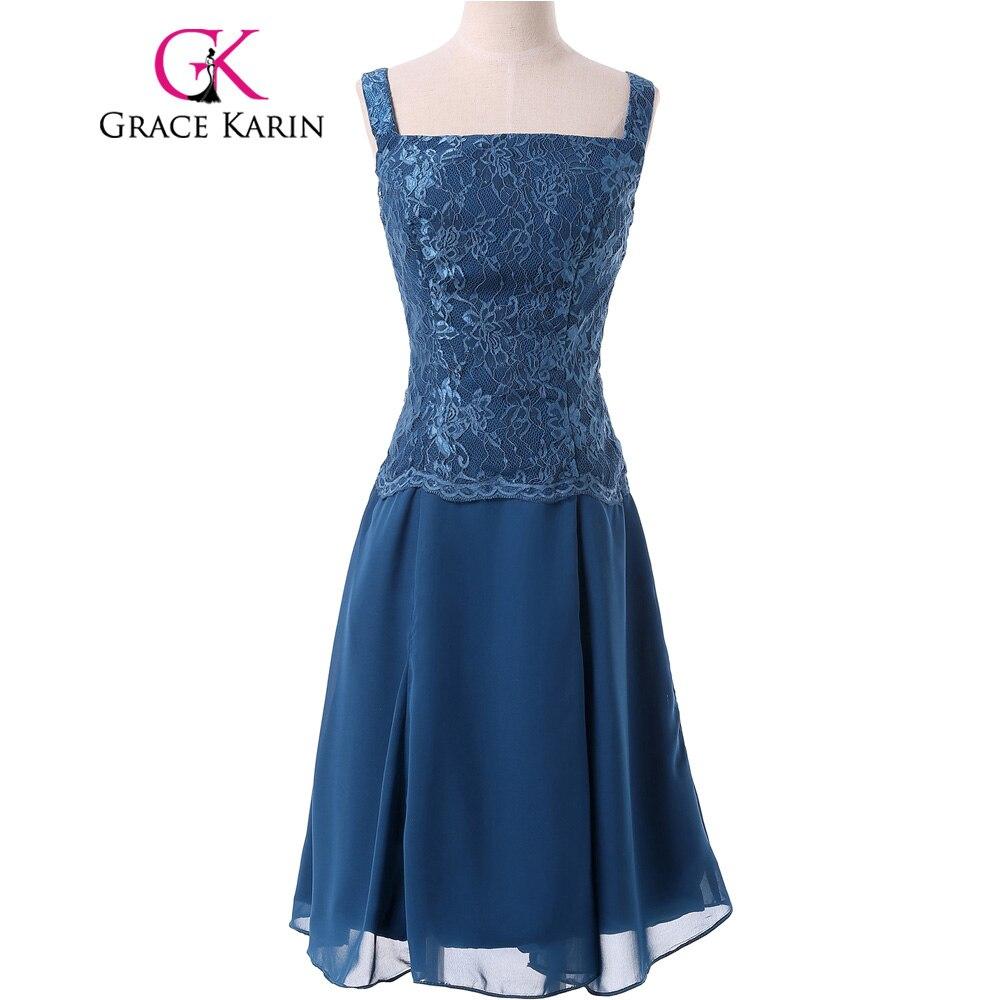 Грейс Карин мать невесты платье для выпускного вечера двух частей Короткие вечерние синий халат де roiree Кружево Пром Вечерние платья с куртк...