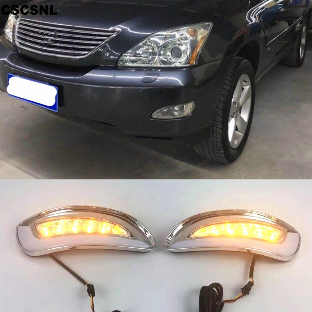 CSCSNL 2Pcs For Lexus RX330 RX350 2003 2004 2005 2006 2007 2008 2009 LED Daytime Running