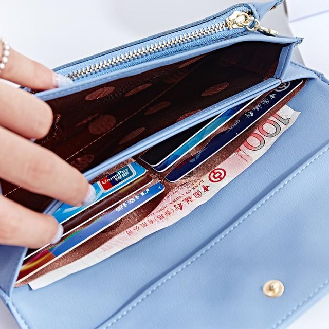 Unishow Simple Women Wallet Long Brand Female Purse Fashion Big Capacity Wallet Women Luxury Design Pu Leather Purse Lady Clutch