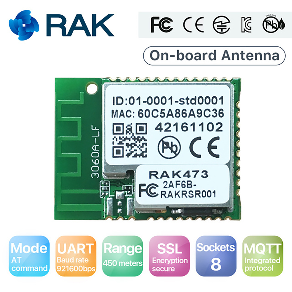 IoT UART WiFi Module Serial to WIFI Wireless Ameba Module AT Command Tcp Ip  Integrated MQTT 450 Meters, RTL8711 RAK473 Q120