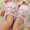 Kawaii Little Twin Stars Plush Warm Slippers Winter Slippers Home Slippers Retail