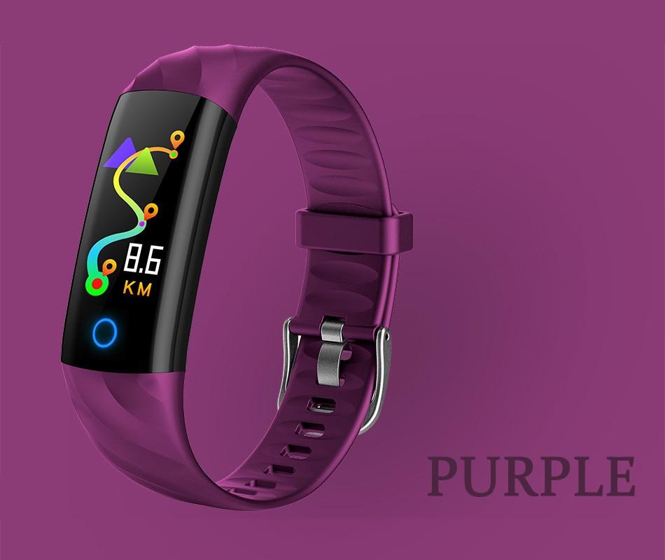 coração rastreador de fitness tela colorida