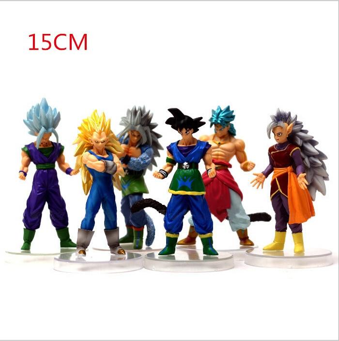 2017 NEW Anime Dragon Ball Z 6PCS Action Figures Dragon Ball SON GOKU Great Saiyaman Anime Figure Brinquedos goku toy
