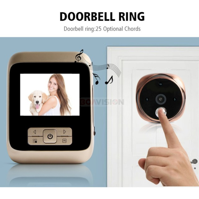 Peephole Door Bell Home Security Camera
