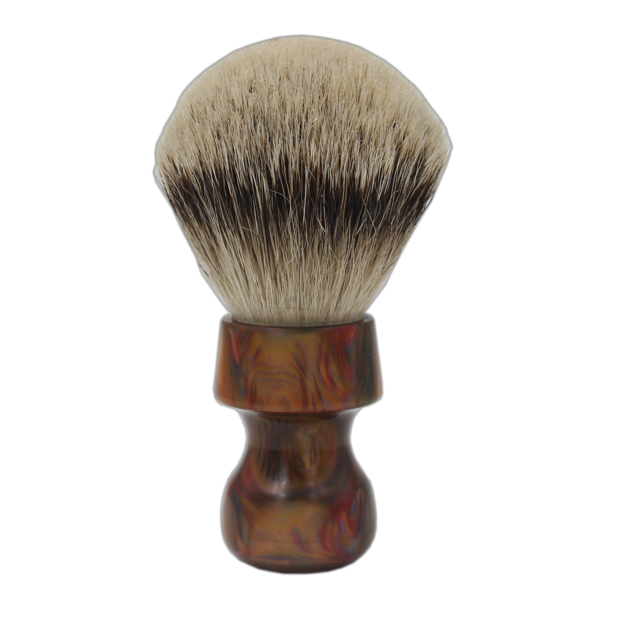 купить 30mm Knot Colorful Resin Handle Silvertip Badger Hair Shaving Brush for Barber Shave Tool по цене 2651.9 рублей