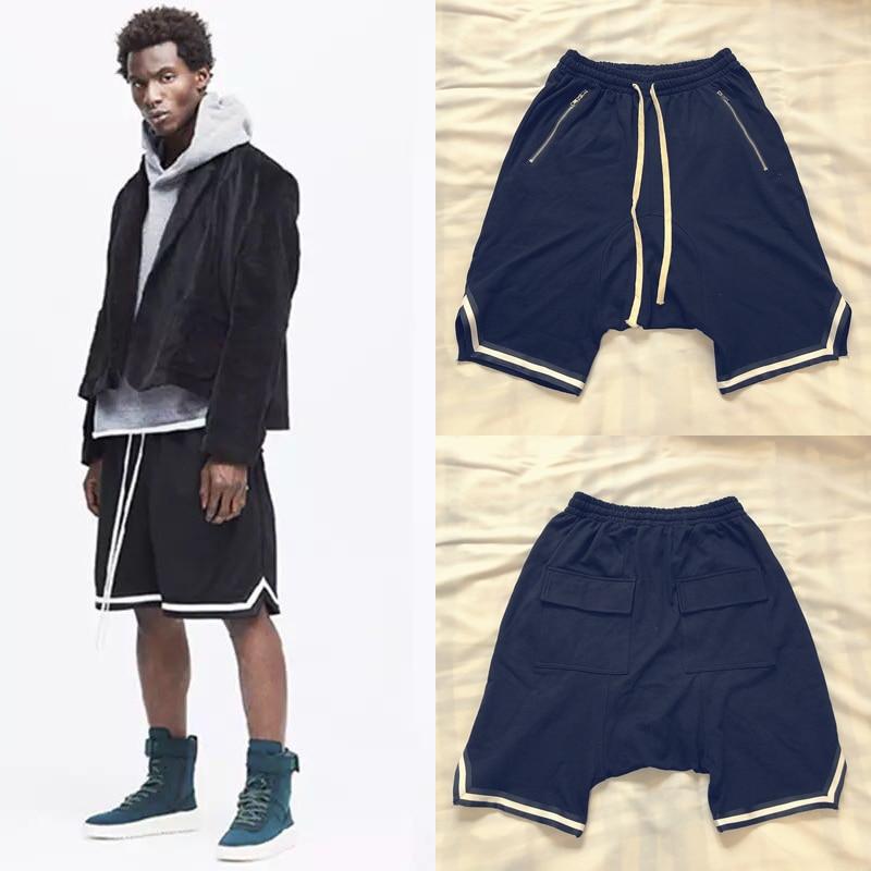 Newest Kanye West Justin Bieber Shorts Men Women High Street Summer Loose Sports Joggers Short Streetwear Kanye West Shorts
