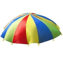 7M/8M/9M/10M Diameter Outdoor Rainbow Umbrella Parachute Toy Jump-Sack Ballute Play For Kids