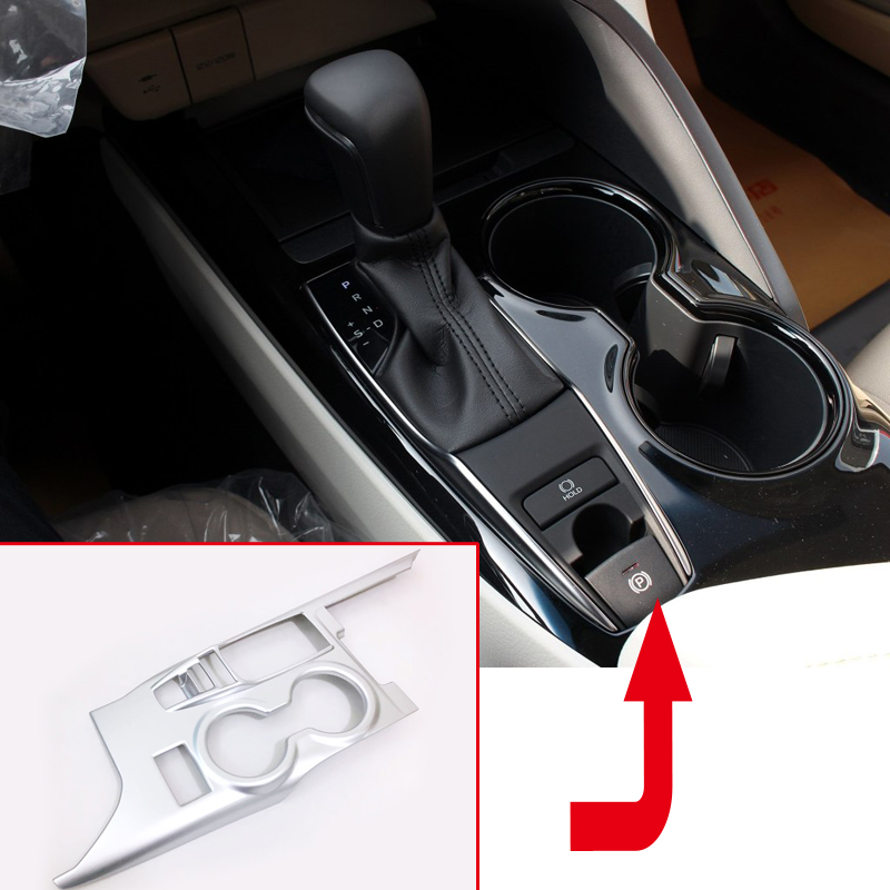 Only fit Left Hand Drive Car! For Toyota Camry XV70 2018 ABS Matte Interior Gear Panel Frame Cover Trim 1pcs left handle drive car abs matte interior
