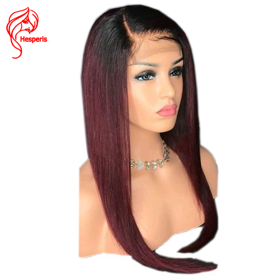 Hesperis Full Lace Human Hair Wigs Brazilian Remy Hair Ombre Full Lace Wigs Pre-plucked  ...