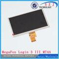 Nuevo 7 '' pulgadas LCD de matriz MegaFon sesión 3 III MT4A login3 tableta con pantalla LCD lente del Panel reemplazo capítulo libera el envío