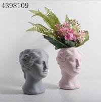 Nordic home decoration art ceramic vase (Venus) goddess head statue decoration living room home decoration vase creative crafts
