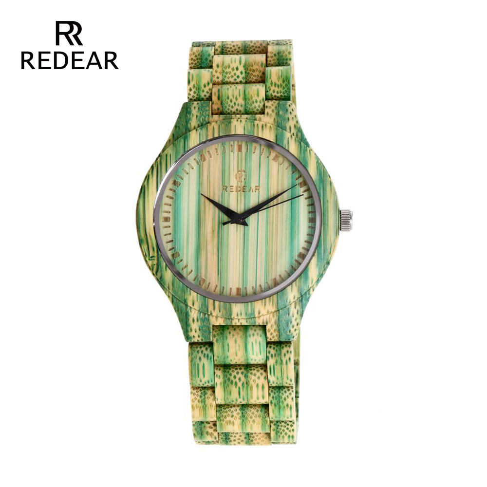 REDEAR Lover's Watches Green Bamboo Wood Watch Bamboo Band för - Damklockor - Foto 2