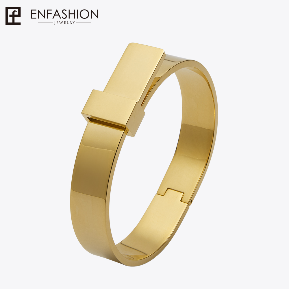 Enfashion Wide Knot Bracelet manchette Noeud Armband Rose Gold color Bangles Bracelets For Women Cuff Bracelets pulseiras